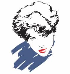 retro girl vector image