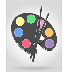 palette for paints 04 vector image