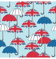 british umbrella pattern vector image