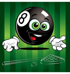 Smiling pool ball vector
