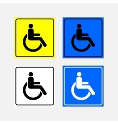 Set icon movement of persons with disabilities vector