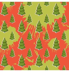 abstract with Christmas tree pattern on a blots vector image vector image