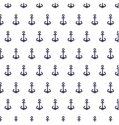 anchor maritime pattern background vector image vector image