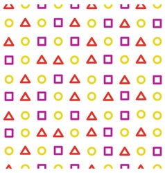 Background circle triangle square vector image vector image