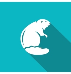 Beaver icon vector image vector image
