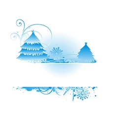 bluish christmas backround vector image