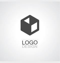 box icon logo vector image