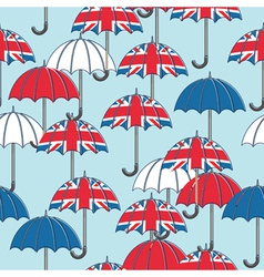 british umbrella pattern vector image vector image