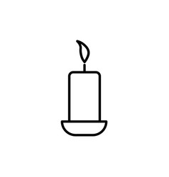 burning candle icon vector image vector image