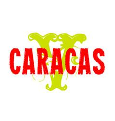 Caracas sticker stamp vector