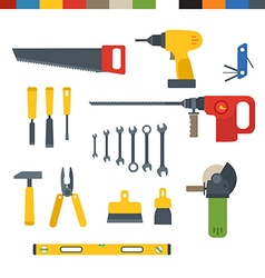 Different tools flat collection vector image vector image