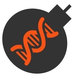 Genetic weapon flat icon vector
