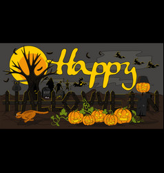 halloween word fence vector image