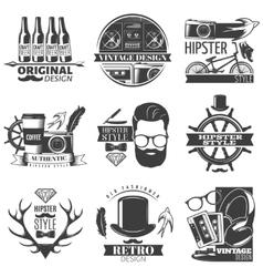 Hipster Emblem Set vector image