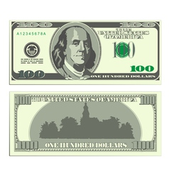 hundred dollar banknote vector image vector image