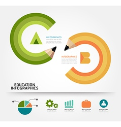 infographics education pencil concept vector image vector image