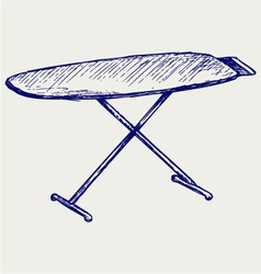 Ironing board vector image vector image