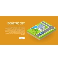 Isometric City Web Banner vector image vector image