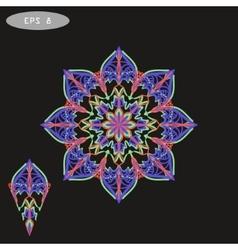 Mandala coloring 1 violet vector