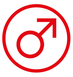 Mars male symbol rounded icon vector