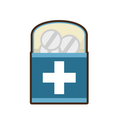medicine pill pharmacy package box vector image