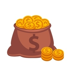 Money bag icon isolated on white vector