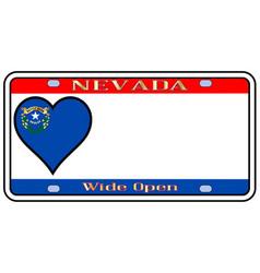 Nevada license plate vector
