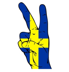 Peace Sign of the Swedish flag vector image vector image