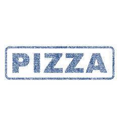 Pizza textile stamp vector