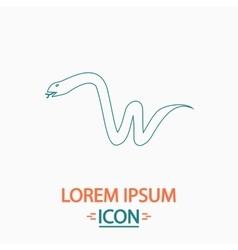 Snake computer symbol vector