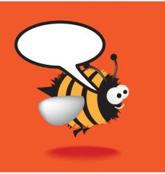 speech bee vector image