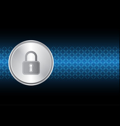 technology digital cyber security lock circle vector image