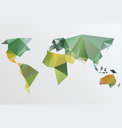 Triangle world map stylize vector