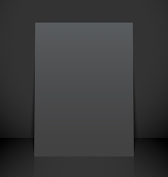 Vertical black poster flyer mockup vector