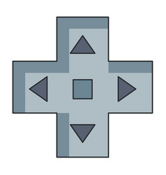 video game cross icon vector image