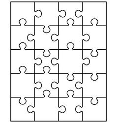 White puzzle 20 vector