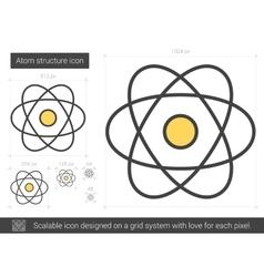 Atom structure line icon vector