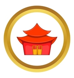 Chinese pagoda icon vector