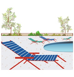 Poolside background vector