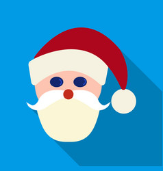 Santa claus icon in flat style isolated on white vector