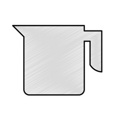 Kitchen teapot isolated icon vector