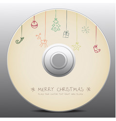 Christmas design for cd cover vector