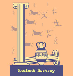 Ancient history background vector