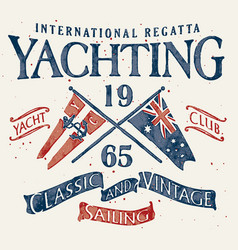 Classic and vintage sailing vector