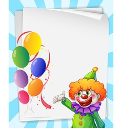 Clown invitation vector