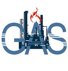 Icon gas industry 4 vector image
