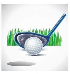 golf club with ball vector