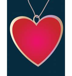Pendant of the heart vector