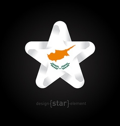 Star with cyprus flag colors and symbols vector