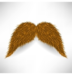 Brown mustache vector